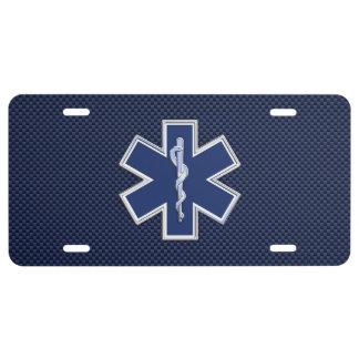 Estrella de la decoración médica de la emergencia placa de matrícula
