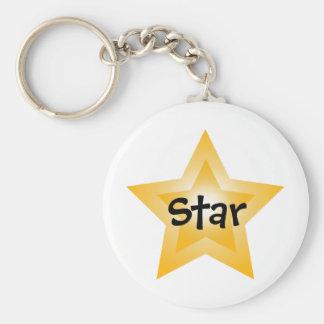 Estrella de la demostración llavero redondo tipo pin