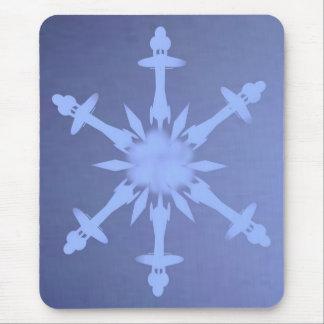 Estrella de la escama de la nieve alfombrillas de ratones