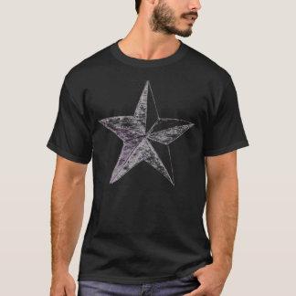 Estrella de la fila del oficial general - negro playera