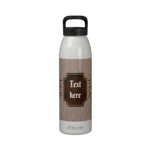 Estrella de la flor de la Cuero-Mirada suave Botella De Agua Reutilizable