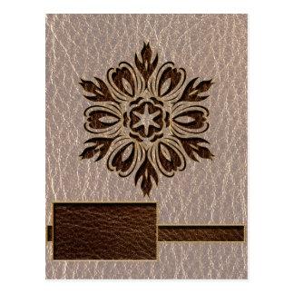 Estrella de la flor de la Cuero-Mirada suave Postales