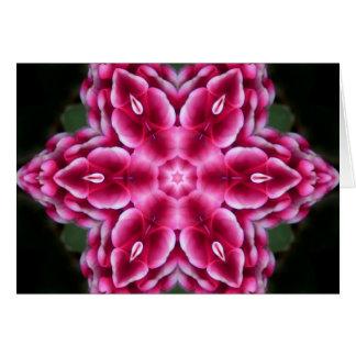 Estrella de la flor de la mandala tarjeta de felicitación