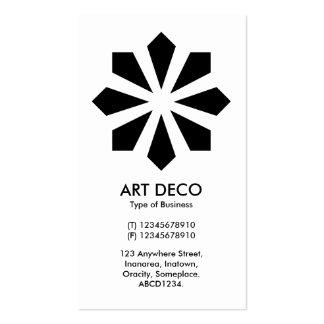 Estrella de la flor del art déco - frente blanco, tarjetas de visita