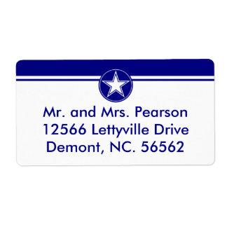 Estrella de la fuerza aérea etiqueta de envío