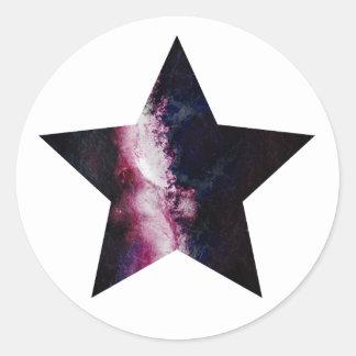 Estrella de la galaxia pegatina redonda