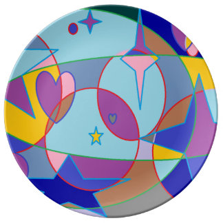 Estrella de la gema plato de cerámica