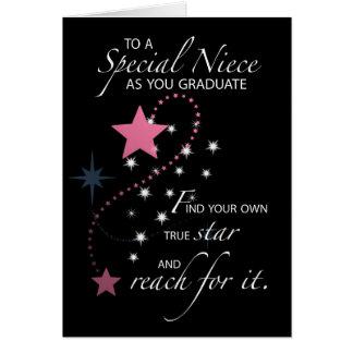 Estrella de la graduación de 3730 sobrinas tarjeta de felicitación