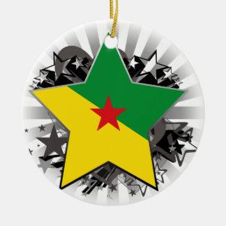 Estrella de la Guayana Francesa Adorno Redondo De Cerámica