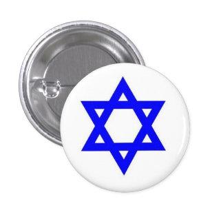 Estrella de la insignia de David Pin Redondo De 1 Pulgada
