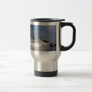 Estrella de la isla del trazador de líneas de la t tazas de café