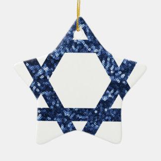 estrella de la lentejuela de David Adorno Navideño De Cerámica En Forma De Estrella