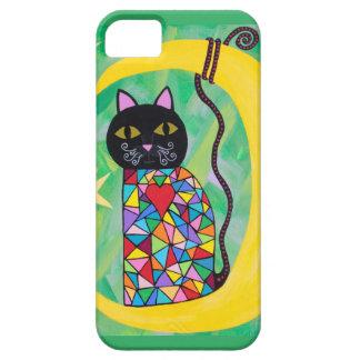 Estrella de la luna del gato negro del caso del iPhone 5 Case-Mate coberturas
