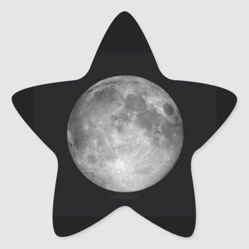 Estrella de la luna pegatina en forma de estrella