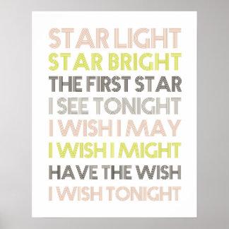 Estrella de la luz de la estrella brillante impresiones