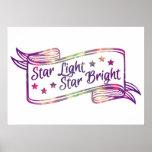 Estrella de la luz de la estrella brillante posters