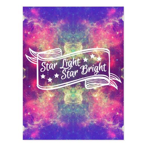 Estrella de la luz de la estrella brillante tarjeta postal