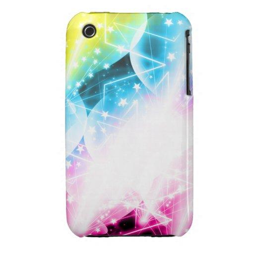 Estrella de la luz de las estrellas brillante Case-Mate iPhone 3 carcasas