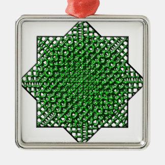 Estrella de la malla adorno navideño cuadrado de metal