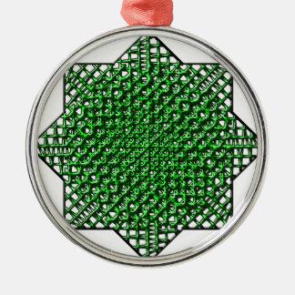 Estrella de la malla adorno navideño redondo de metal