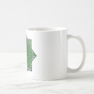 Estrella de la malla taza básica blanca