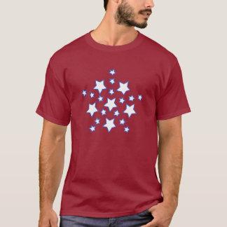 Estrella de la mandala de estrellas en camisetas