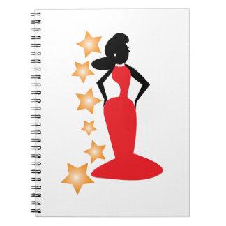 Estrella de la moda spiral notebooks