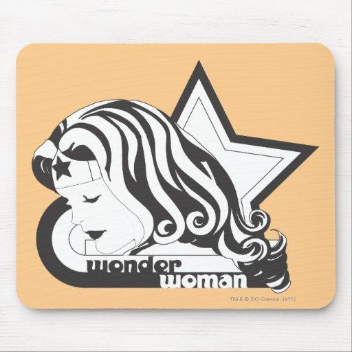Estrella de la Mujer Maravilla B&W Alfombrilla De Ratones