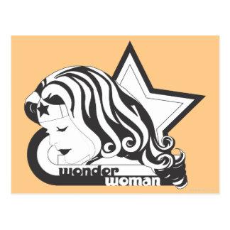 Estrella de la Mujer Maravilla B&W Tarjeta Postal