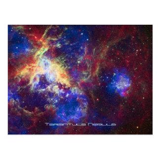 Estrella de la nebulosa del Tarantula que forma la Postal
