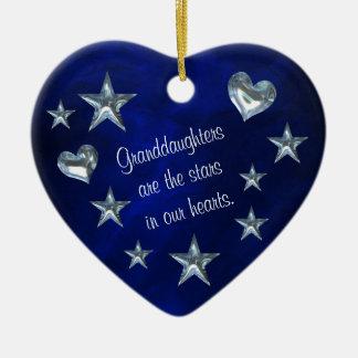 Estrella de la nieta y ornamento del navidad del c ornatos