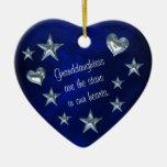 Estrella de la nieta y ornamento del navidad del ornatos