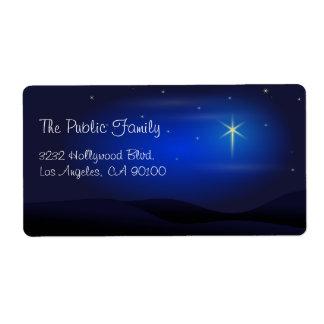 Estrella de la noche de navidad de Belén Etiqueta De Envío