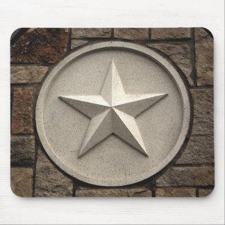 Estrella de la P.M. Tejas de la piedra Tapetes De Raton