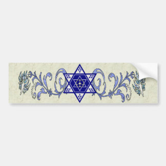 Estrella de la paz de Jánuca Etiqueta De Parachoque