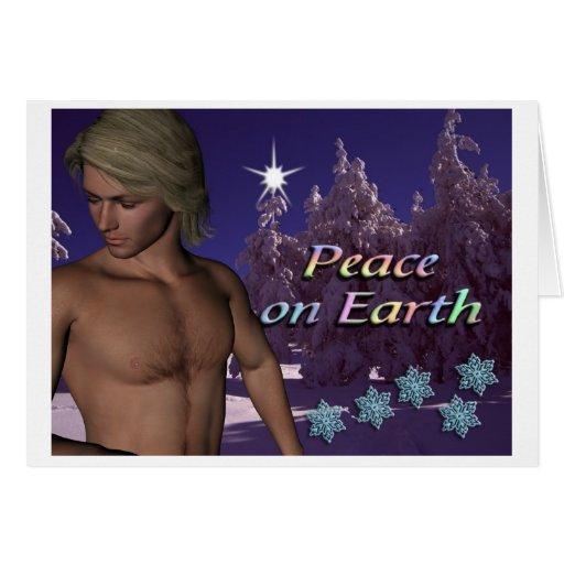 Estrella de la paz tarjetas