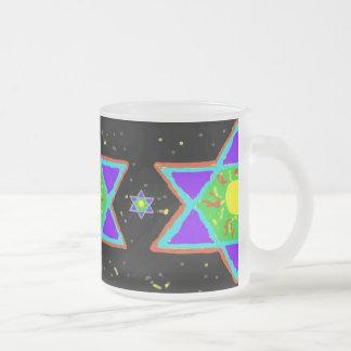 Estrella de la pintura de David Tazas De Café