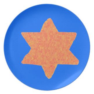 Estrella de la placa de David Plato De Cena