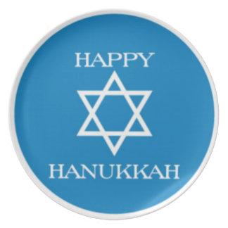 Estrella de la placa de Hanukah del Latke de David Platos