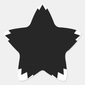 Estrella de la plantilla del modelo calcomanías forma de estrellaes