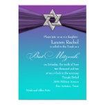 Estrella de la plata de la invitación de Mitzvah