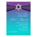 Estrella de la plata de la invitación de Mitzvah d