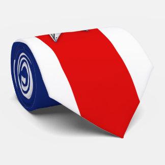 Estrella de la plata del cromo en colores corbata personalizada