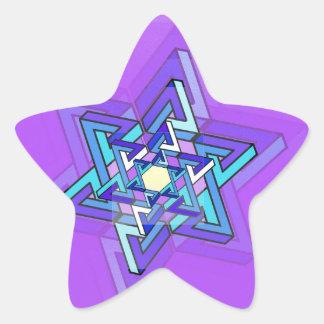 Estrella de la progresión de David Pegatina En Forma De Estrella