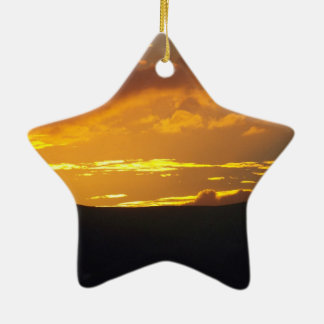 Estrella de la puesta del sol del navidad ornamento para reyes magos