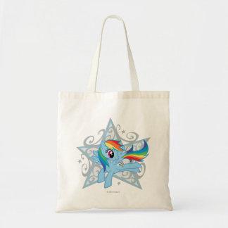Estrella de la rociada del arco iris bolsa tela barata