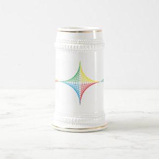 Estrella de la secuencia jarra de cerveza