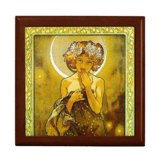 Estrella de la tarde - caja de regalo de oro del r