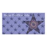 Estrella de la tarjeta de la foto de la independen tarjeta fotográfica