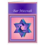 Estrella de la tarjeta de Mitzvah de la barra de D